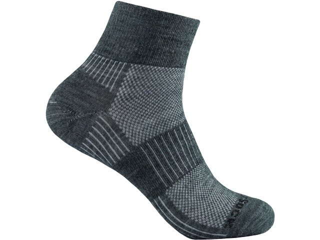 Wrightsock Merino Coolmesh II Quarter Socks grey-white